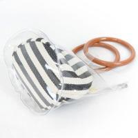 クリアバッグ ショルダー PVC リングハンドルバッグ ミニ レディース 鞄 バッグ ウッドハンドル風 巾着 2way セット