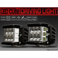 LED DRIVING LIGHT CUBE 27W CREE XB-D Pair   サイドに設置...