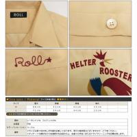 ROLL ロール 刺繍ボーリングシャツ Helter Rooster オープンカラー ボウリング 半袖 レーヨン コットン 02-72-412