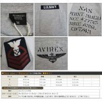AVIREX アビレックス アヴィレックス クルーネック Tシャツ 半袖 プリント U.SNAVY ミリタリー 6163356