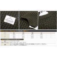 Adequate アディクエート DOVETAIL SLICK ニット セーター ワッフル クルーネック アディクエイト ade7183301