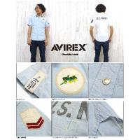 AVIREX アビレックス アヴィレックス 半袖 シャツ リペア リメイク ミリタリー C.B. 6135010