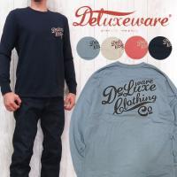 デラックスウェア DELUXEWARE 長袖Tシャツ プリント 吊り編み 2本針縫い ユニオンスペシャル dx6103