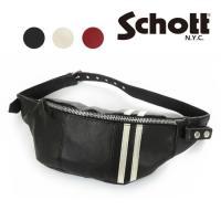 ショット Schott C.R. BODY BAG レザー ボディ バッグ sch3189016