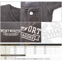 ダブルワークス DUBBLE WORKS ヘンリーネック Tシャツ 半袖 ピグメント染め ひび割れプリント WENTWORTH ww35008-wentworth