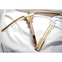 木製クロスボウ(ボーガン)  弓矢:竹製 吸盤の矢3本付き+矢立付属 組み立て式。全長30cm 弓の...