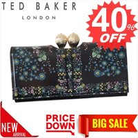 テッドベーカー 財布 長財布 TED BAKER KERREN 138181 PRINTED TEARDROP BOBBLE MATINEE PURSE UNITY F 0 BLACK XL35 比較対照価格 16,988 円