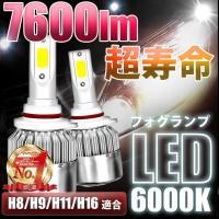 フォグランプ led 後付け ヘッドライト 6000K  汎用 バルブ H8/H9/H11/H16 12V  HID キセノンライト