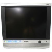 リモコン無しシャープ アクオス 60日保証 B-CASカード付 2008年製 13インチ リモコン無...