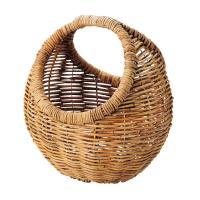 アラログ製 丸型バスケット(持ち手付き) 「16-09」 カゴバッグ バスケット 小物入れ 小物 収納 雑貨入れ アジアン バスケット