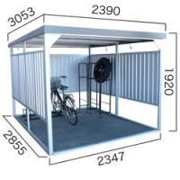 【ダイマツ×環境生活】自転車置き場 ダイマツ多目的万能物置 DM-20壁面パネルショート型  ※お客様組立品 送料無料|eco-life
