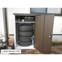 物置 スチール グリーンライフ物置 扉式タイヤ収納庫TBT-132MBR  ※お客様組立品 送料無料|eco-life|03