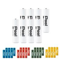 エネループ をこえる 大容量 充電池 充電式乾電池 単3電池 2150mAh 8本セット 防災グッズ ニッケル水素電池 カラフル (ネコポス送料無料)