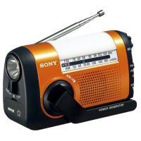 iPhoneなどのスマートフォン、携帯電話に充電もできる。ソフトライトを搭載した手回し充電ラジオ。