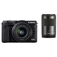 ミラーレスカメラ「EOS M3」に軽量・コンパクトな標準ズームレンズと望遠ズームレンズをキットにした...