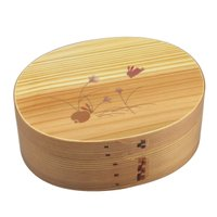 【木のお弁当箱ならでは】 木製の曲げわっぱ 弁当箱です。 曲げわっぱにウレタンを塗って仕上げています...