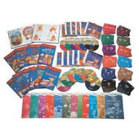 12冊の絵本それぞれに、BGM付きの朗読CDが付属。更に、フラッシュカードを使って、重要単語の効率よ...