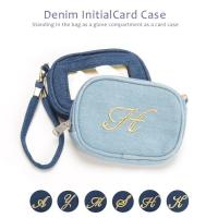 【商品説明】 デニム素材のカードケースです。ゴールド刺繍イニシャルをモチーフとしたスタイリングし易い...