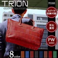TRION トートバッグ メンズ 牛革 グローブレザー