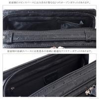 セカンドバッグ メンズ 鞄 牛革 オーストリッチ型押し ダブルファスナー ボックス型 United HOMME UHP-2174