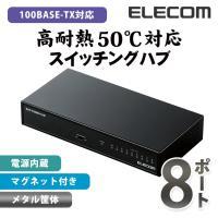 【激安!アウトレット】  100BASE-TX対応の電源内蔵メタル筐体8ポートハブです。省エネ法に準...