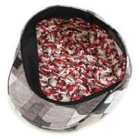 ハンチング モダン ハイゲージニット パッチワーク サイズ調整可 日本製 マツイ 帽子 ベージュ系