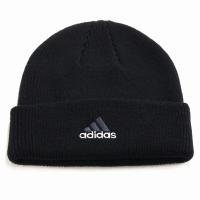 オールシーズン 折り返し ニットワッチ 帽子 アディダス メンズ ニット メンズ adidas cap ニット帽 レディース/黒 ブラック