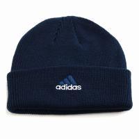 折り返し ニットワッチ ニット帽 レディース 帽子 アディダス メンズ ニット メンズ adidas cap オールシーズン/紺 ネイビー