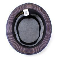 ハット メンズ ニューヨークハット メンズ 帽子 ポークパイハット デニム 3059 DenimStitchStingy ブルー