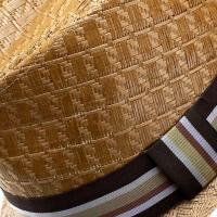 ストローハット 帽子 メンズ ラフィア風 ペーパー素材 中折れハット ブランド ヘンシェル