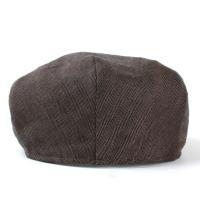 ハンチング 帽子 メンズ ウィゲ-ン WIGENS 麻 ヘリンボンデザイン ヴィゲーンズ 大きいサイズ