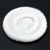 帽子 レディス レディース 柔らかゆったり 帽子 アンゴラ ラビットファー ベレー帽 ぼうし ホワイト