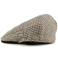 クリスティーズロンドン CHRISTYS' LONDON 帽子 英国 ブランド ハンチング クラシック ツイード ウール Brighton Driver 千鳥 ハウンドトゥース ベージュ系