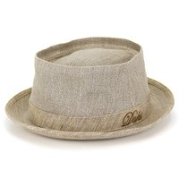 春夏 ダックス 英国 ハット メンズ ポークパイハット 麻 カジュアル 帽子 父の日 ギフト ファッション 個性的 DAKS 涼しい リネン ベージュ ナチュラル 生成