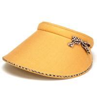 サンバイザー レディース UVカット DAKS 帽子 小物 ダックス 夏 チェック柄 リボン 紫外線カット 日よけ オレンジ