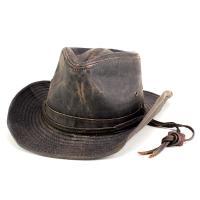 カウボーイハット 夏 ぼうし ヴィンテージ調 テンガロン ハット ウエスタン 日よけ 帽子 ドーフマン ブラウン