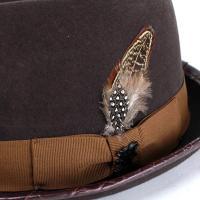 フェルトハット 帽子 メンズ ハット ステイシーアダムス stacy adams ダイヤモンド型 チョコレートブラウン
