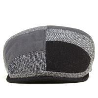 ハンチング メンズ 帽子 ファッション 小物 パッチワーク ウール ミラショーン 紳士服 HUNTING ブラック