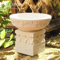 アジアン雑貨・バリ雑貨! バリ島の職人さんが一つ一つ丁寧に彫り上げて作ったアジアンオブジェ。白くて軽...