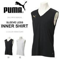 PUMA INNER SHIRT プーマ インナーシャツ 紳士・男性用  ワンポイントロゴ入り、ノー...
