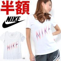 NIKE (ナイキ) ナイキ ウィメンズ ドライ DRI-FIT スウッシュ スクープ Tシャツ に...