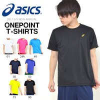 asics(アシックス)ワンポイントTシャツ になります。  メンズ・男性・紳士 シンプルなデザイン...