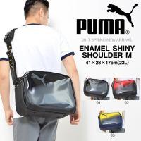 PUMA ENAMEL SHINY SHOULDER M 074663 プーマ エナメル シャイニー...