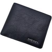 ビジネスにもカジュアルにも使えるクールなブラックカラーの二つ折り財布。 シボ型押しの高級感ある仕上げ...