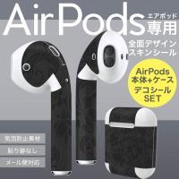 AirPods専用 デザインスキンシール 3M社製の再剥離性シートを素材に採用し、細かな位置調整がし...