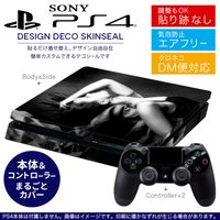 SONY 新型PS4 スリム 薄型 プレイステーション専用 デザインスキンシール 裏表 全面セット ...