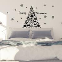 ウォールステッカー クリスマス Christmas 飾り 60×60cm Msize シール式 装飾...