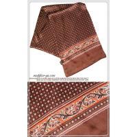 エレガント袋縫いプリント柄メンズ用100%シルクスカーフ 10121