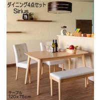 スタンダードな幅120cmテーブルセット。ベンチやチェアの座面は汚れや水濡れに強い合成皮革です。 ■...