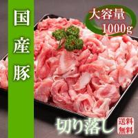 【送料無料】国産豚肉メガ盛り切り落とし 1000g